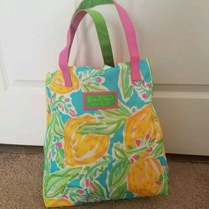 Lilly Pulitzer for Estee Lauder Lemon Floral Tote